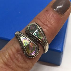Vintage sterling FOA bypass ring